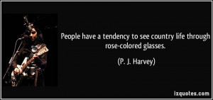 quote looking at life thru rose colored glasses