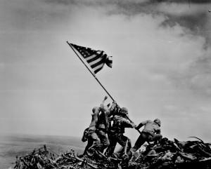 AP photographer Joe Rosenthal's famous photo (source: National ...