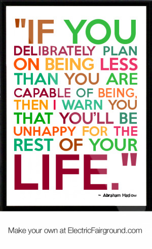 Abraham Maslow Framed Quote