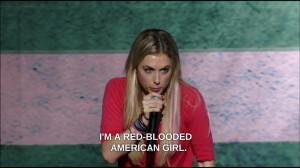 blonde female comedian