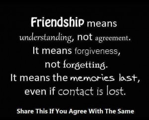 Friendship #Forgiveness #Understanding