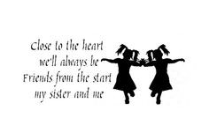 twin sisters funny pic   Wall Sticker Decal Quote Vinyl Twins Sisters ...