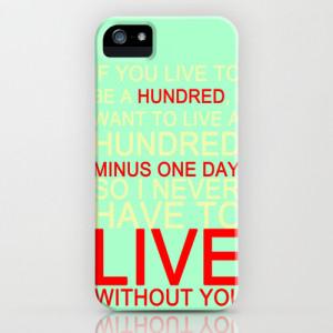 quotes iPhone & iPod Case