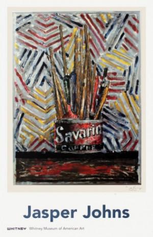 Savarin-Jasper Johns Encaustic painting