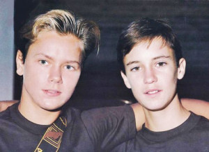 River Phoenix and Wil Wheaton
