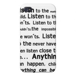 Shel Silverstein Quote iPhone Case Case For iPhone 4