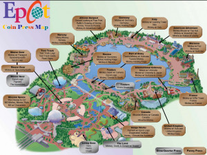 Disney Parks Epcot Map And...