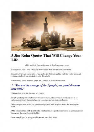 Jim Rohn Quotes That Will Change Your Life