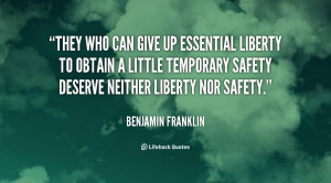 Benjamin Franklin Quotes Freedom