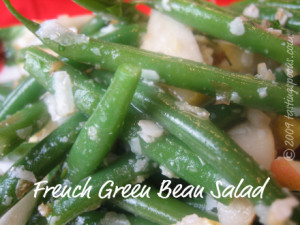 cold french green bean salad