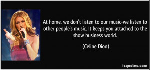 At home, we don't listen to our music-we listen to other people's ...