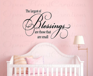 Nursery Wall Quotes - Baby Nursery Vinyl Wall Decals - Baby Sayings ...