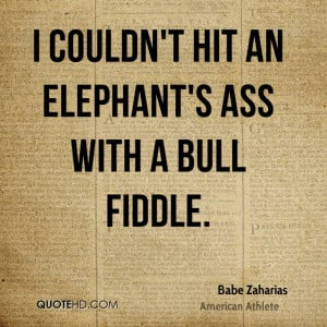 babe didrikson zaharias quotes i couldn t hit an elephant s ass with a ...
