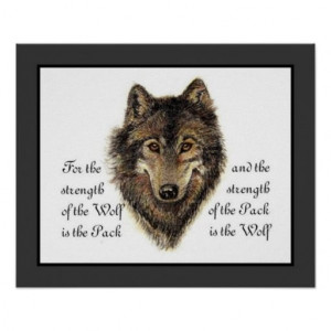 Save on Wolves, Watercolor Wolf & Pack Quote, Nature Poster Wolves ...
