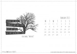 the FREE February 2013 calendar. I have been making these calendars ...