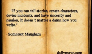 Author Quotes: Somerset Maugham on Writing Ability