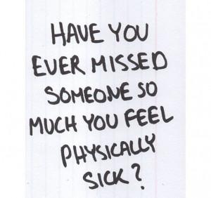 Missing Someone Part Loving...