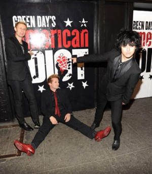 Billie Joe Armstrong, Tre Cool and Mike Dirnt