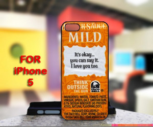 Taco Bell Sauce Packet Sayings For IPhone 5 Black Case Cover