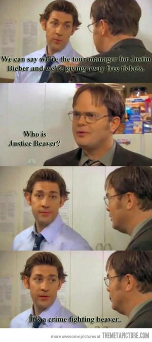 Funny photos funny Jim Dwight scene The Office