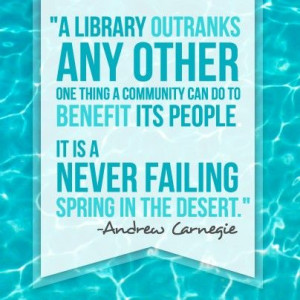 Library quote from Andrew Carnegie. Please repin.