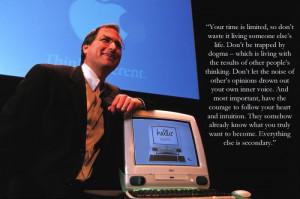Steve Jobs Stanford Commencement Speech.