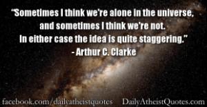 Arthur C. Clarke – Alone in the universe Baron D'Holbach ...