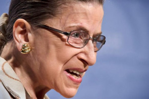 Justice Ginsburg has some problems with the Hobby Lobby 5-4 decision ...