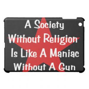 Anti-Religion Quote iPad Mini Cover