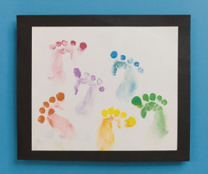 Use your hand to make footprints! There are no smelly feet—and no ...