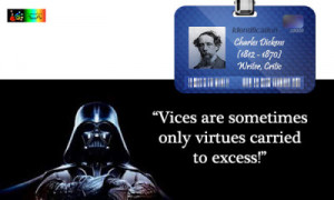 Quote by Charles Dickens on vices and virtues