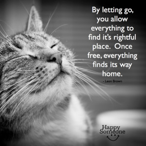 Let go of anything that's holding you back. Let go of negative ...
