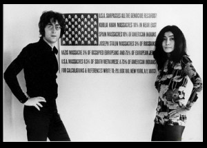 ... of one of john lennon and yoko ono s most famous protests against the