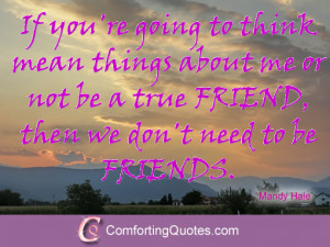 Quote About Being a True Friend