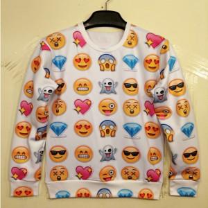 HOT-2014New-Women-Men-love-afraid-happy-sad-emoji-print-Pullover-sexy ...