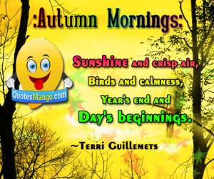 Autumn morning sunshine and crisp air