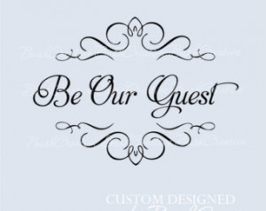 Wall Decal Be Our Guest Room 048