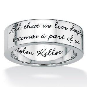 ... com: Stainless Steel Inspirational Helen Keller Message Band: Jewelry