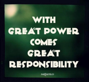 Responsibility Quotes Credited
