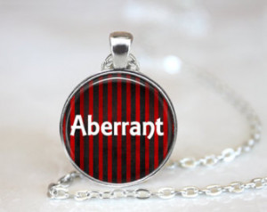 Aberrant Quote Necklace, Circus Fre ak Quote Necklace, Aberrant Freak ...