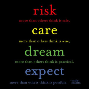 ... think is possible cadet maxim tweet 0 0 about taking chances quotes
