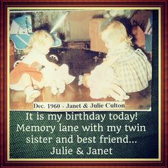 ... twins #identical #family #celebrate #life #love #sisters #friends
