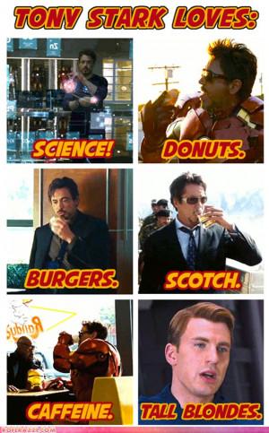 Tony Stark Funny Quotes