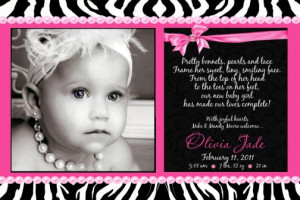 Baby Girl Birth Announcements – It's A Girl