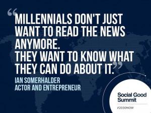 millennials #2030NOW #socialgoodsummit