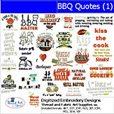 Machine Embroidery Designs - BBQ Quotes(1)