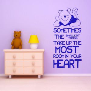 New 2014 Cartoon Winnie The Pooh Quote Wall Decal Sticker Birthday ...