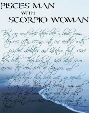 Pisces woman dating scorpio man