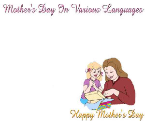 Say Happy Mother's Day In Many Languages