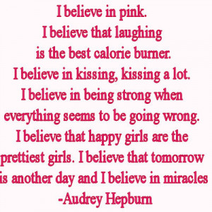 believe in pink ...